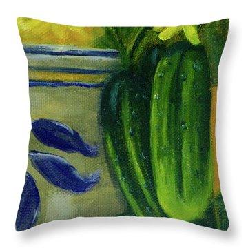 Pickling Cucumbers  Throw Pillow