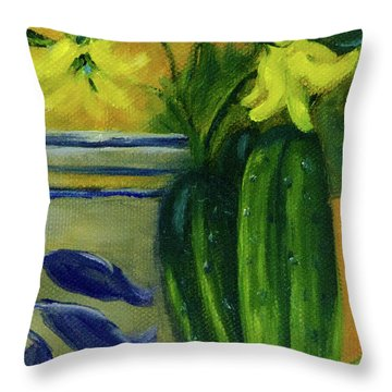 Pickling Cucumbers  Throw Pillow
