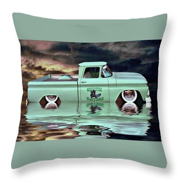 Pickup Reflections Throw Pillow by Steven Agius