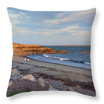 Picnic At Sunset Throw Pillow