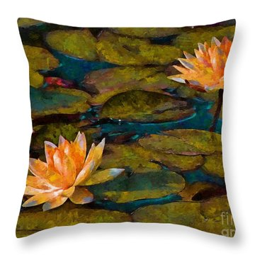 Picnic By The Pond Throw Pillow