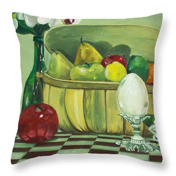 Picnic Throw Pillow by Jane Autry