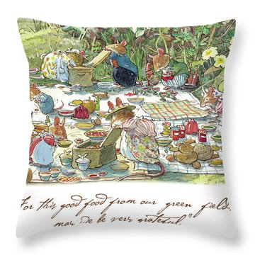 Picnic Time Throw Pillow