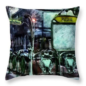 Throw Pillow featuring the photograph Picoas by Dariusz Gudowicz