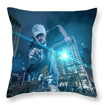 Throw Pillow featuring the photograph Pics By Nick by Nicholas Grunas