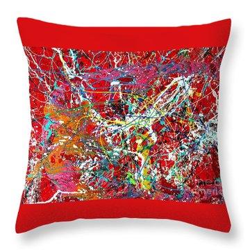 Pictographic Interpretation Throw Pillow
