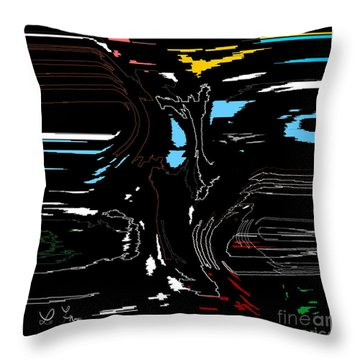 Throw Pillow featuring the digital art Picture Book Story by Leo Symon