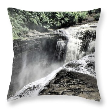 Picture Of Waterfalls At Letchworth Throw Pillow