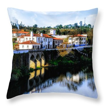 Picture Perfect Portuguese Village Throw Pillow
