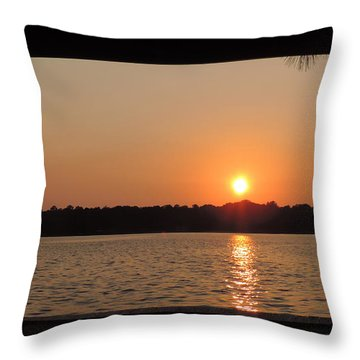 Picture Perfect Sunset Throw Pillow by Teresa Schomig