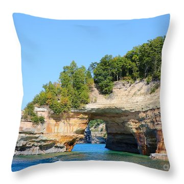 Picture Rocks Throw Pillow