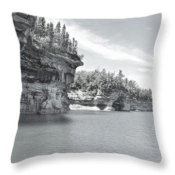 Pictured Rocks Shoreline National Park Throw Pillow by Michael Peychich