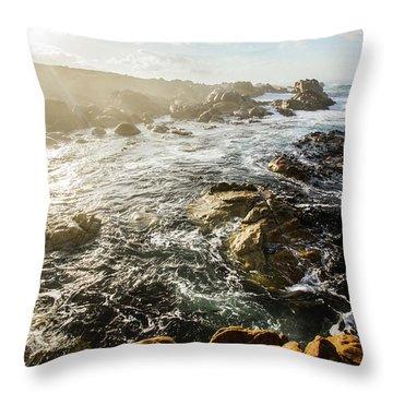 Picturesque Australian Beach Landscape Throw Pillow
