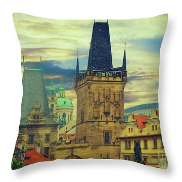 Picturesque - Prague Throw Pillow
