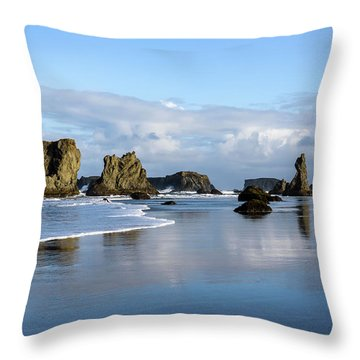 Picturesque Rocks Throw Pillow