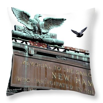 Pidgeon Intrusion Throw Pillow