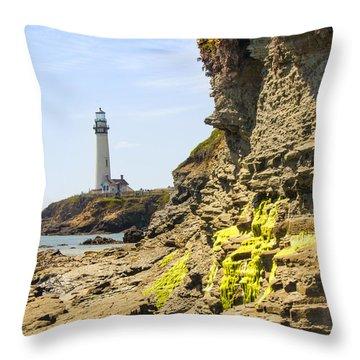 Pidgeon Point Lighthouse Throw Pillow