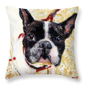 Pie And I Throw Pillow by Molly Poole