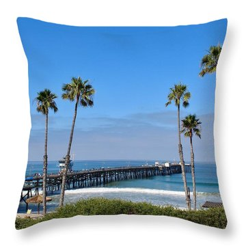 Pier And Palms Throw Pillow