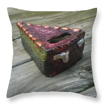 Pie Throw Pillow by Steve  Hester