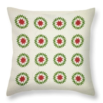 Pieced Quilt, Blazing Star Pattern Throw Pillow