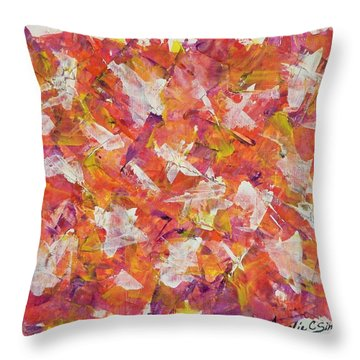 Piecefall  Throw Pillow