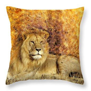 Pieces Of A Lion Throw Pillow