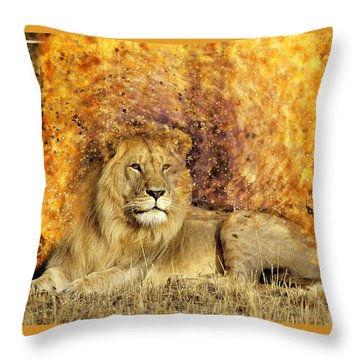 Pieces Of A Lion Throw Pillow