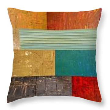 Pieces Project V Throw Pillow by Michelle Calkins