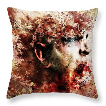 Pieces Throw Pillow by Robert  Adelman