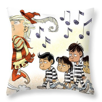 Pied Piper Trump And Infestation Throw Pillow