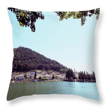 Piediluco And Piediluco Lake Throw Pillow