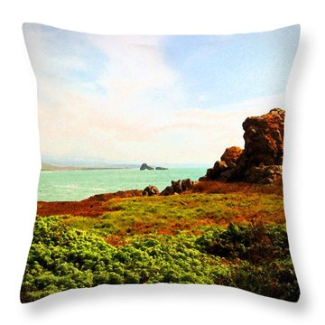 Piedras Blancas 3 Throw Pillow by Timothy Bulone