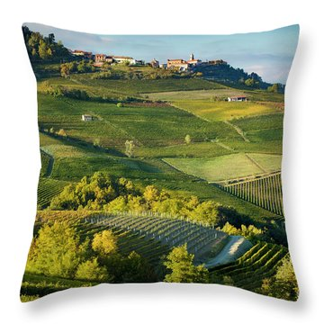 Throw Pillow featuring the photograph Piemonte Countryside by Brian Jannsen
