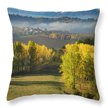 Throw Pillow featuring the photograph Piemonte Morning by Brian Jannsen