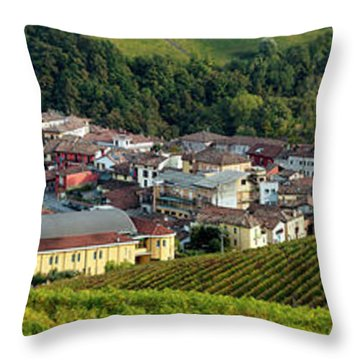 Throw Pillow featuring the photograph Piemonte Panoramic by Brian Jannsen