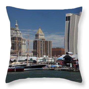 Pier 17 Nyc Throw Pillow