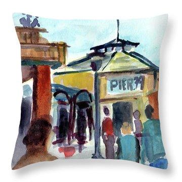 Pier 39 San Francisco Throw Pillow