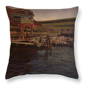 Pier 55 - Red Robin Throw Pillow