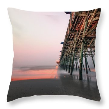 Pier And Surf Throw Pillow