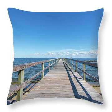 Pier At Highland Beach Throw Pillow