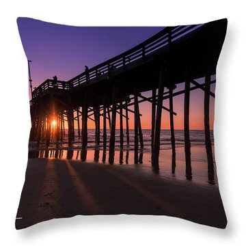 Pier In Purple Throw Pillow