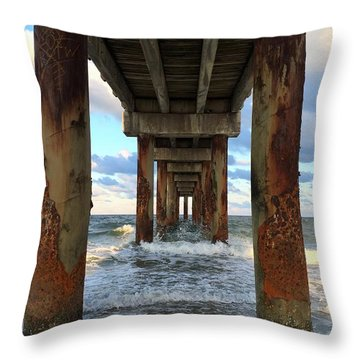 Pier In Strength And Peaceful Serenity Throw Pillow