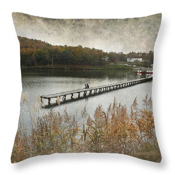 Pier Love Throw Pillow