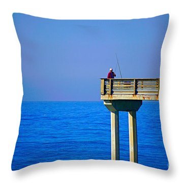 Pier Man Throw Pillow