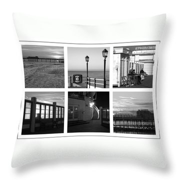 Pier Moods Throw Pillow by Hazy Apple