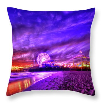 Pier Of Lights Throw Pillow
