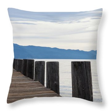 Throw Pillow featuring the photograph Pier On The Lake by Ana V Ramirez