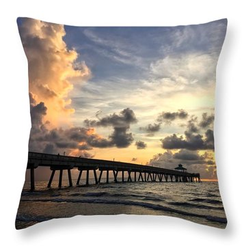 Pier On The Left Throw Pillow