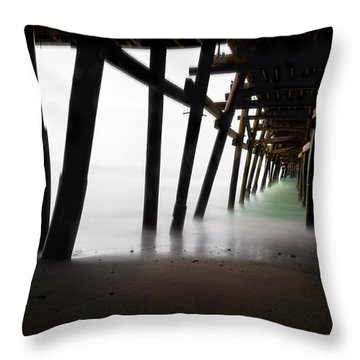 Throw Pillow featuring the photograph Pier Pressure by Sean Foster